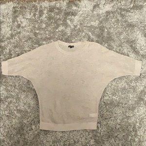 Express glittery beige crochet sweater